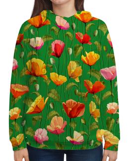 """Толстовка с полной запечаткой """"Цветы"""" - весна, цветы, цветочки, природа, зеленый"""