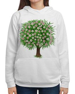 """Толстовка с полной запечаткой """"Цветочное дерево."""" - цветы, растение, настроение, весна, дерево"""