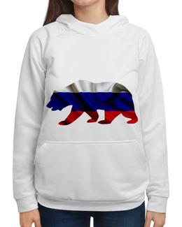 """Толстовка с полной запечаткой """"Русский Медведь"""" - bear, медведь, русский, флаг, russian"""