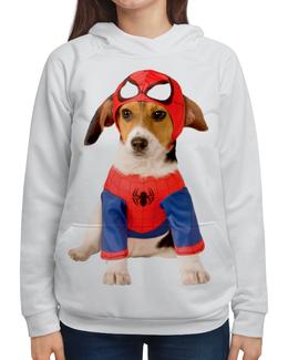 """Толстовка с полной запечаткой """"собака-друг.супер герой."""" - собака, животное, друг, супер герой"""