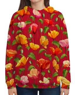 """Толстовка с полной запечаткой """"Цветочки"""" - цветы, весна, природа, цветочки"""