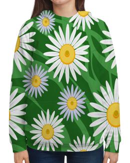 """Толстовка с полной запечаткой """"Ромашки"""" - цветы, весна, природа, ромашки"""