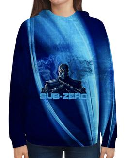 """Толстовка с полной запечаткой """"Sub-Zero"""" - ninja, mortal, kombat, zero, sub"""