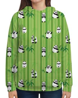 """Толстовка с полной запечаткой """"Панды"""" - панда, животные, растения, панды, бамбук"""