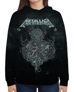 """Толстовка с полной запечаткой (Женская) """"Metallica"""" - рок, metallica, группы, метал, металлика"""