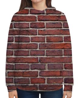 """Толстовка с полной запечаткой (Женская) """"Кирпичная кладка"""" - арт, дизайн, стена, камень, кирпич"""