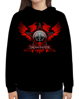 "Толстовка с полной запечаткой ""Dream Theater"" - музыка, heavy metal, группы, метал, dream theater"