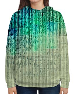 """Толстовка с полной запечаткой """"Иероглифы"""" - краски, знаки, символы, иероглифы, числа"""