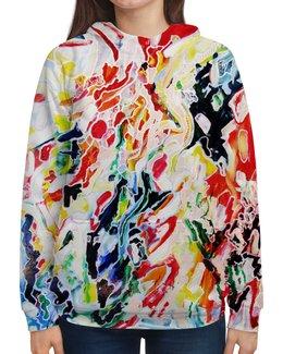 """Толстовка с полной запечаткой """"МЫ(женская)"""" - картина, абстракция, яркие цвета, яркие краски"""