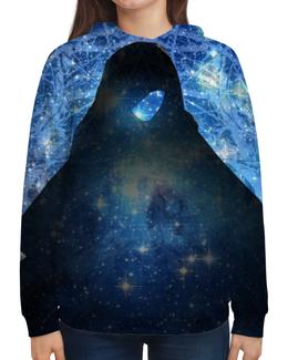 """Толстовка с полной запечаткой """"""""Звездный маг"""" - звезды, космос, синий, волшебство, магия"""