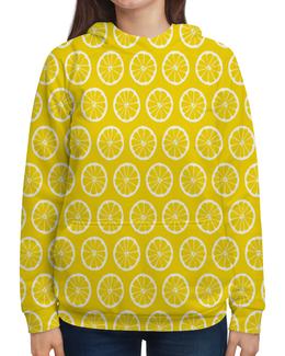"""Толстовка с полной запечаткой """"Апельсинчик"""" - апельсин, фрукты, лето, еда, желтый"""