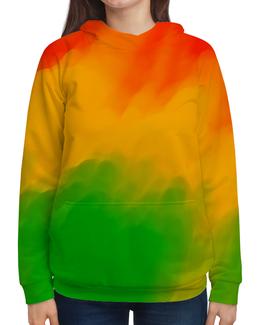 """Толстовка с полной запечаткой """"Радужный """" - радуга, рисунок, картина, краски, цветные краски"""