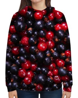 """Толстовка с полной запечаткой """"Ягодки"""" - фрукты, summer, ягоды, fruits, смородина"""
