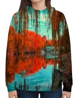 """Толстовка с полной запечаткой """"Национальный парк"""" - мир, осень, природа, парк, озеро"""