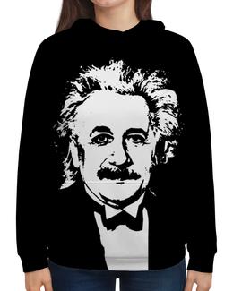 """Толстовка с полной запечаткой """"Эйнштейн"""" - звезды, космос, вселенная, эйнштейн, одежда космос"""