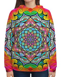 "Толстовка с полной запечаткой ""Mandala HD2"" - узор, ретро, классика, этно, симметрия"
