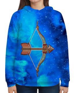 """Толстовка с полной запечаткой """"Стрелец"""" - зодиак, знаки зодиака, космос, стрелец, небо"""