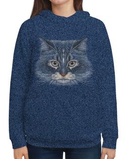 """Толстовка с полной запечаткой """"Котик"""" - кот, животное"""