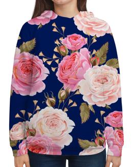 """Толстовка с полной запечаткой """"Цветы"""" - цветы, розы"""