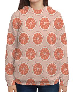 """Толстовка с полной запечаткой """"Апельсины"""" - фрукты, апельсин, лето, узор, ягоды"""