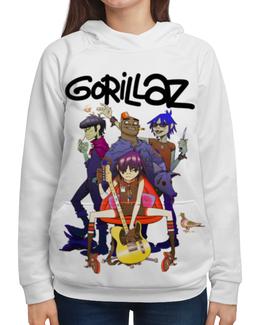 """Толстовка с полной запечаткой """"Gorillaz"""" - музыка, группы, gorillaz, гориллаз"""