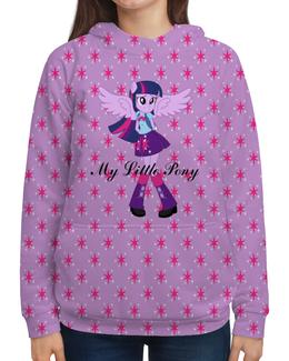 """Толстовка с полной запечаткой """"Искорка (Девочки Эквестрии)"""" - mlp, мой маленький пони, искорка, equestria girls, девочки эквестрии"""