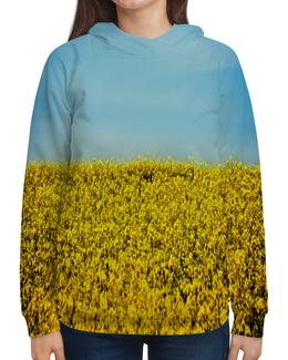 """Толстовка с полной запечаткой """"Полевые цветы"""" - растение, весна, природа, цветочки, поле"""