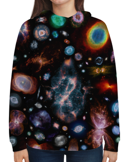 """Толстовка с полной запечаткой """"Галактический мир"""" - звезды, космос, вселенная, одежда космос"""