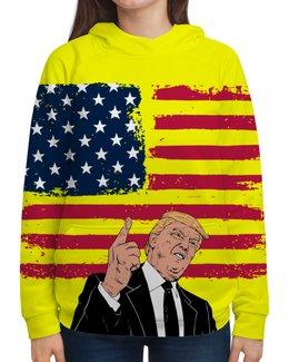 """Толстовка с полной запечаткой """"Дональд Трамп"""" - сша, президент, трамп, дональдтрамп, donaldtrump"""