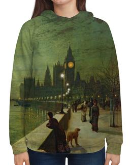 """Толстовка с полной запечаткой """"Вечерний Лондон"""" - арт, страны, город, лондон, англия"""