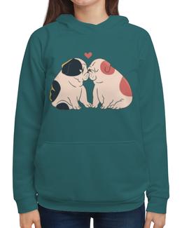 """Толстовка с полной запечаткой """"Мопсики"""" - dog, pug, собака, cute, мопс"""