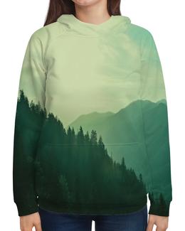 """Толстовка с полной запечаткой """"Пейзаж"""" - лес, природа, горы, пейзаж, туман"""