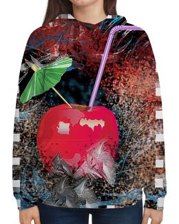 """Толстовка с полной запечаткой """"Яблочный микс"""" - напиток, абстракция, яблоко, фрукт, натюрморт"""