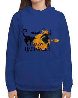 "Толстовка с полной запечаткой ""Хэллоуин"" - хэллоуин, ведьма, кошка"