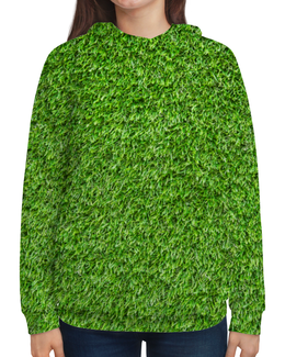 """Толстовка с полной запечаткой """"Травка"""" - весна, травка, трава, лес, зеленый"""