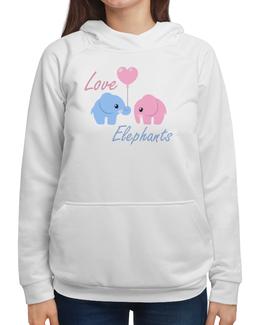 """Толстовка с полной запечаткой """"Love Elephants"""" - арт, прикольные, рисунок"""