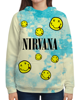 "Толстовка с полной запечаткой ""Nirvana"" - nirvana, kurt cobain, курт кобейн, нирвана, гранж"
