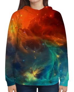"""Толстовка с полной запечаткой """"Космическая туманность"""" - космос, фотография, звёзды, спутник, туманность"""
