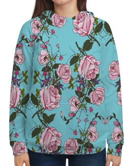 """Толстовка с полной запечаткой """"Розы в цвету"""" - цветы, розы, природа, весна, сад"""
