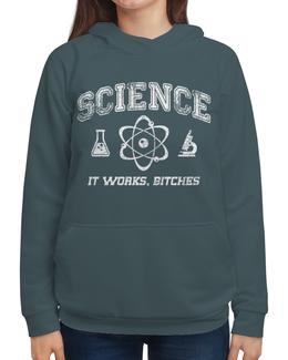 """Толстовка с полной запечаткой (Женская) """"Наука"""" - geek, science, наука, научный, ученый"""