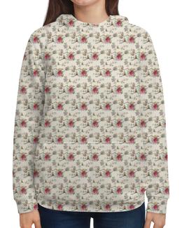 """Толстовка с полной запечаткой """"Floral owl"""" - цветы, совы, owl, цветочный, совушки"""