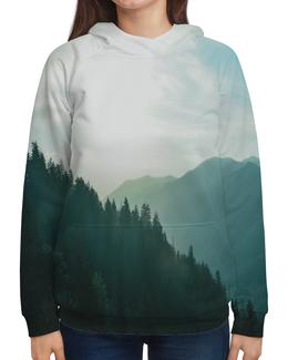 """Толстовка с полной запечаткой """"Туман"""" - горы, лес, туман, природа, пейзаж"""