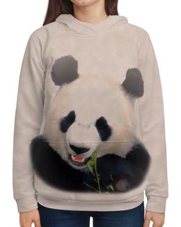 """Толстовка с полной запечаткой (Женская) """"Панда"""" - медведь, панда, черно-белый, китай, бамбуковый"""