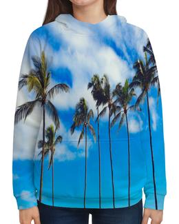 """Толстовка с полной запечаткой """"Пальмы"""" - лето, деревья, пляж, пальмы, майами"""