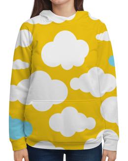 """Толстовка с полной запечаткой """"Кавай"""" - позитив, желтый, облака, веселый, мимимишный"""