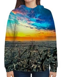 """Толстовка с полной запечаткой """"New York"""" - new york, страны, города, облака, пейзаж"""