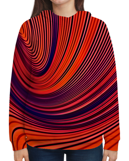 """Толстовка с полной запечаткой """"Цветные полосы"""" - линии, полосы, цветные краски, узор, рисунок"""
