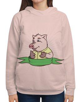 """Толстовка с полной запечаткой """"Свинка"""" - новый год, свинка, свинья"""
