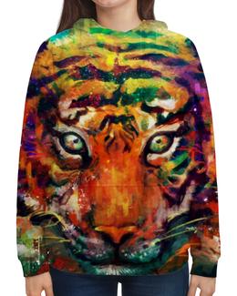 """Толстовка с полной запечаткой """"Зверь"""" - арт, животные, рисунок, дизайн, тигр"""