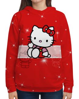 """Толстовка с полной запечаткой """"Hello Kitty с искрами"""" - hello kitty, мультфильм, для детей, кошечка, искры"""